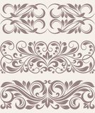 Set vintage ornate border frame filigree Stock Photos