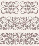 Set vintage ornate border frame filigree. This is file of EPS10 format vector illustration