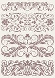 Set vintage ornate borders. This is file of EPS10 format stock illustration