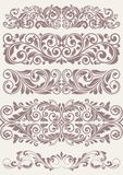 Set vintage ornate borders. This is file of EPS10 format Stock Images