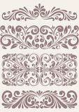 Set vintage ornate borders. This is file of EPS10 format Royalty Free Stock Image