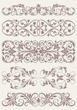 Set vintage ornate borders Royalty Free Stock Photos