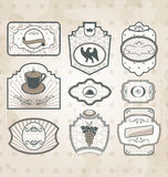 Set of vintage ornate labels Royalty Free Stock Photo