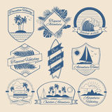 Set of Vintage Outdoor Adventure Badges Stock Images