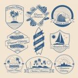 Set of Vintage Outdoor Adventure Badges vector illustration