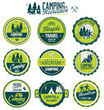 Set of vintage outdoor camp badges Royalty Free Stock Images