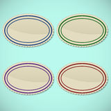 Set of vintage oval stamps Royalty Free Stock Photography