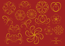 Set of vintage page design elements. Vector illustration Royalty Free Stock Image
