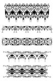Set of vintage patterns Royalty Free Stock Photos