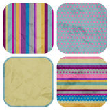 Set of vintage patterns. Retro textures royalty free illustration