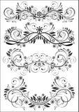 Set of vintage patterns Stock Photography
