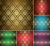 Set - vintage patterns with gold ornament Royalty Free Stock Photo