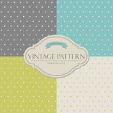 Set of vintage patterns Stock Photo