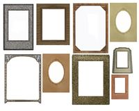 Set of vintage photo frames Royalty Free Stock Photo
