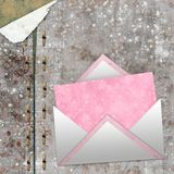 Set of vintage pink paper for congratulation Royalty Free Stock Photo