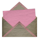 Set of vintage pink paper for congratulation. Or invitation and envelope Stock Photo
