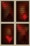 Set vintage poker cards Stock Image