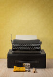 A set of vintage portable typewriter and case Royalty Free Stock Image