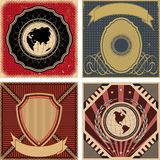 Set of vintage poster backgrounds. Royalty Free Stock Photo