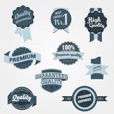 Set of Vintage Premium Quality Badges Stock Photos