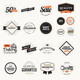 Set of vintage premium quality badges and stickers Stock Image