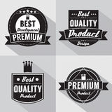 Set of Vintage Premium Quality Labels Royalty Free Stock Photography