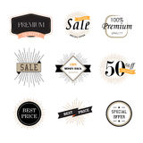 Set of vintage premium quality stickers. Royalty Free Stock Image