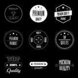 Set of vintage product quality labels - premium and top quality. Collection of vintage style labels marking the premium quality of the product Stock Photo