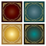 Set of Vintage radial ornaments Stock Photos