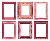 Set of vintage red frame with blank space Royalty Free Stock Photos