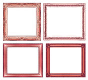 Set of vintage red frame with blank space and clipping path Stock Photography