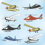Set of vintage retro aeronautics flight badges Stock Photos
