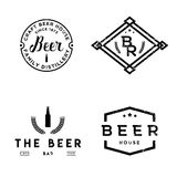 Set of vintage retro badges on pub theme. Beer labels in vintage style Royalty Free Stock Photo