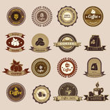 Set of vintage retro coffee badges and labels Royalty Free Stock Photos