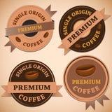 Set of vintage retro coffee badges Stock Photo