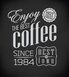 Set of Vintage Retro Coffee Stock Images