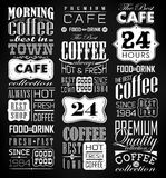 Set Of Vintage Retro Coffee. Retro Coffee  Labels and typography background . Coffee decoration collection Stock Photography