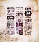 Set Of Vintage Retro Coffee Stock Image