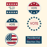 Set of vintage retro election badges and labels Royalty Free Stock Image