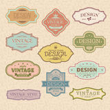Set of vintage retro frames Royalty Free Stock Photos
