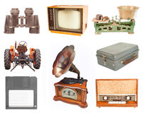 Set of vintage and retro items Stock Images