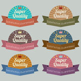 Set of Vintage Retro Labels Stock Image
