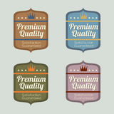 Set of Vintage Retro Labels Stock Photo