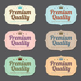 Set of Vintage Retro Labels Royalty Free Stock Photo