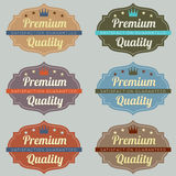 Set of Vintage Retro Labels Stock Images