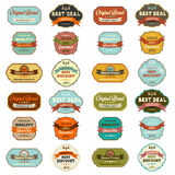 Set of vintage retro labels Stock Photography