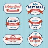 Set of vintage retro labels Stock Photos