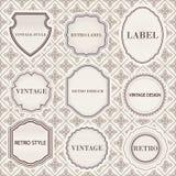 Set of vintage  retro labels templates. Stock Image