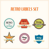 Set of vintage retro labels Royalty Free Stock Photos