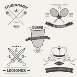 Set of vintage retro logos. Vector illustration.  Stock Images